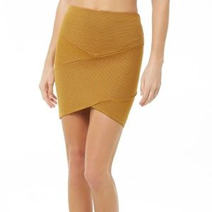 Ribbed (mustard) skirt